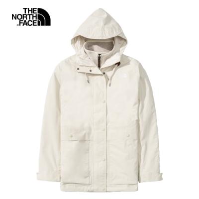 The North Face北面女款白色防水透氣三合一外套 4NBN11P