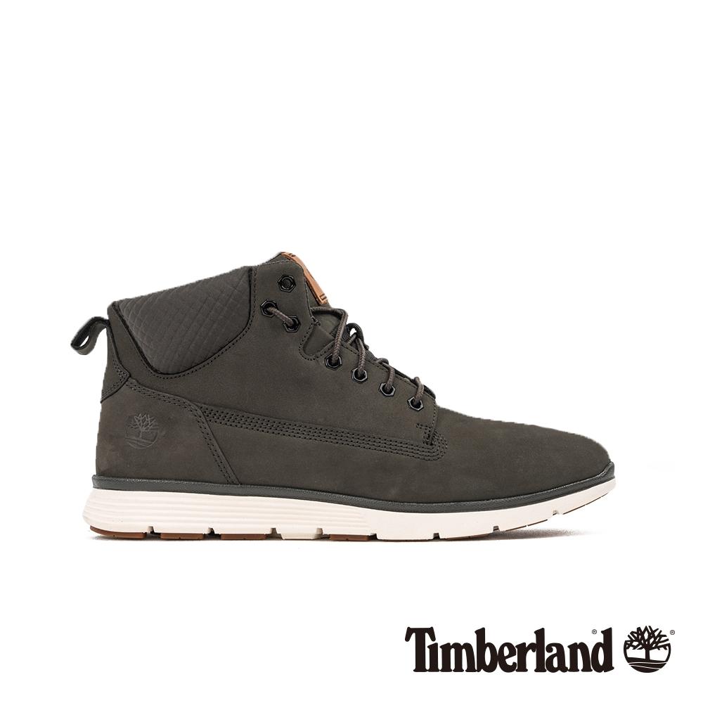 Timberland 男款墨綠色磨砂革運動短靴|A22CT