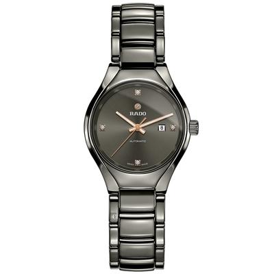 RADO 雷達 True 真系列 高科技陶瓷鑽石機械女錶-30mm R27243712