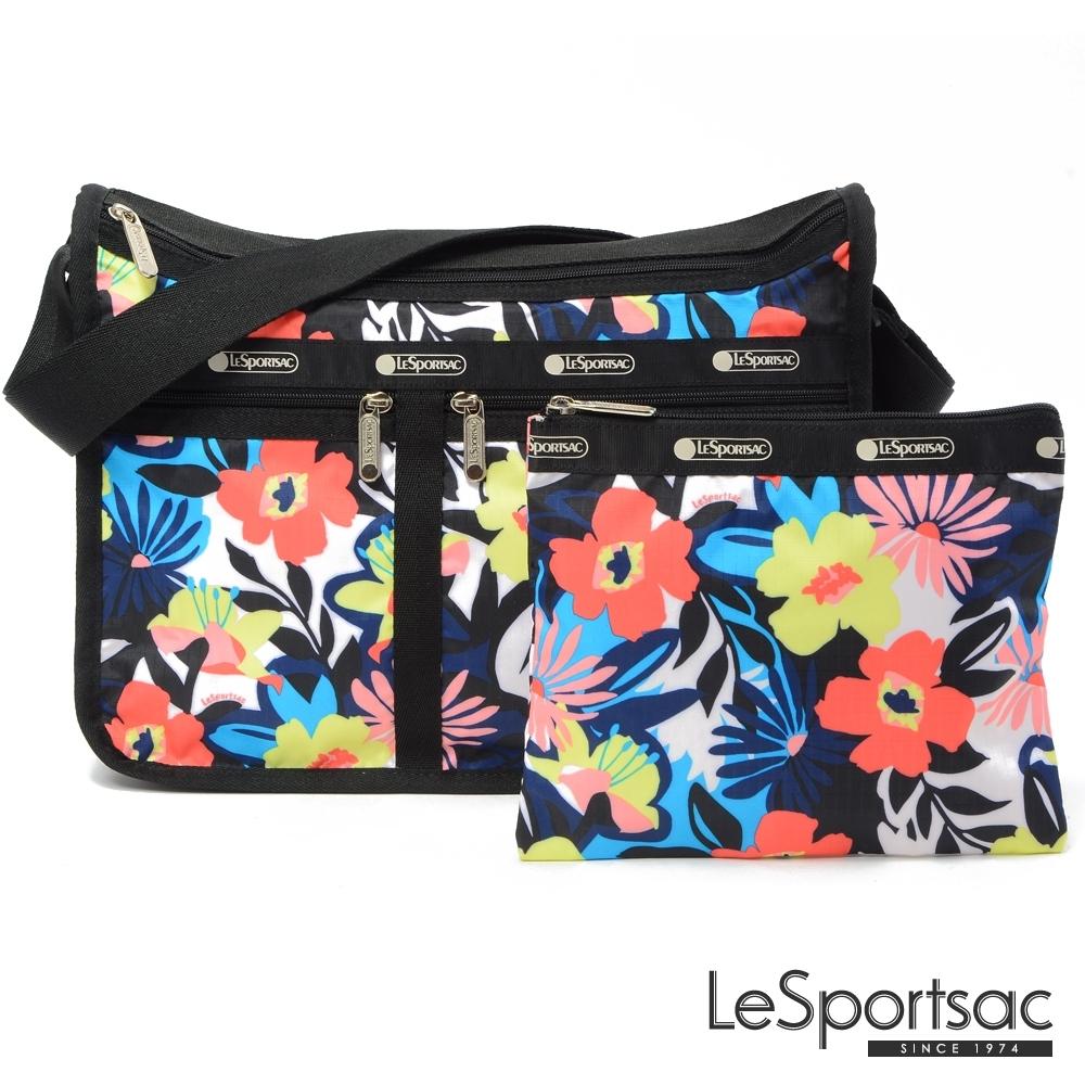 LeSportsac - Standard 雙口袋A4大書包-附化妝包(典雅南洋櫻)