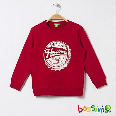 bossini男童-印花厚棉運動衫05紅