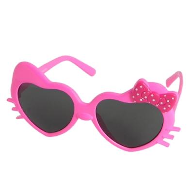 【Docomo】女童KID專用墨鏡 愛心造型鏡框設計 可愛蝴蝶結造型 小女生的最愛 抗UV400