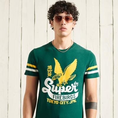 SUPERDRY 男裝 短袖T恤 BONDED VARSITY 深綠