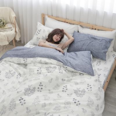 BUHO 100%TENCEL天絲床包枕套組-雙人特大(沐詩花語)