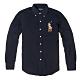 Polo Ralph Lauren 年度經典熱銷彩色大馬刺繡長袖襯衫 - 深藍色 product thumbnail 1