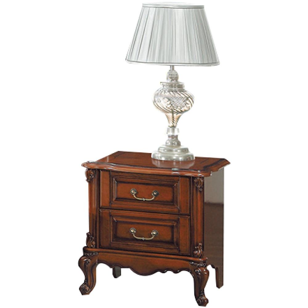文創集 派路西法式奢華1.8尺二抽床頭櫃/收納櫃-53.5x42x57cm免組