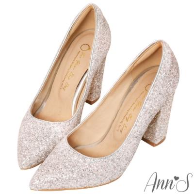 Ann'S璀璨金沙-鑽石糖夢幻高跟尖頭婚鞋