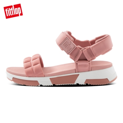 FitFlop HAYLIE QUILTED CUBE BACK-STRAP SANDALS後帶涼鞋-女(玫瑰褐)
