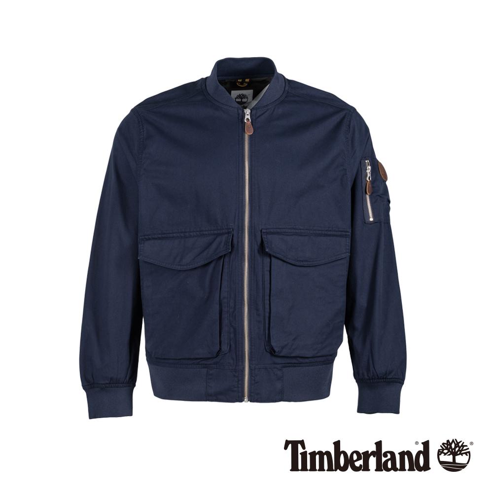 Timberland 男款深寶石藍MA1飛行夾克|A1OLP