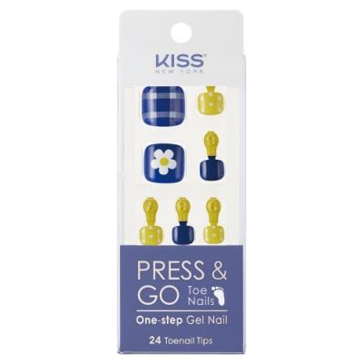 KISS New York-Press&Go足部指甲貼片-戀夏100日(KPT05K)