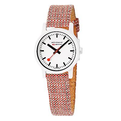 MONDAINE 瑞士國鐵 essence系列腕錶-32mm/磚紅