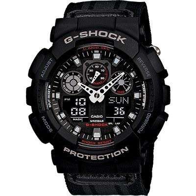 G-SHOCK 重型機械感粗獷個性風格男錶-黑(GA-100MC-1A)/35mm