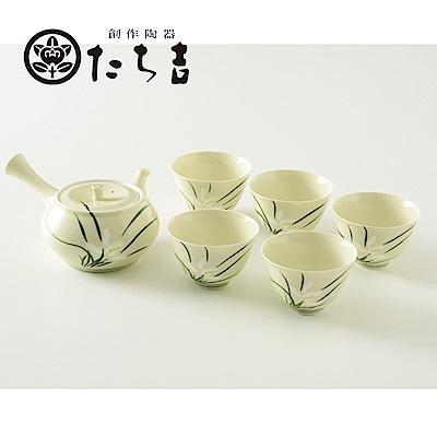 日本橘吉_蘭香茶器組(1壺5杯)