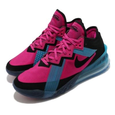 Nike 籃球鞋 Lebron XVIII Low 男鞋 氣墊 舒適 避震 明星款 包覆 運動 粉 黑 CV7564600