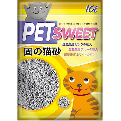 PET SWEET派斯威特 加菲貓貓砂 10L 四包組