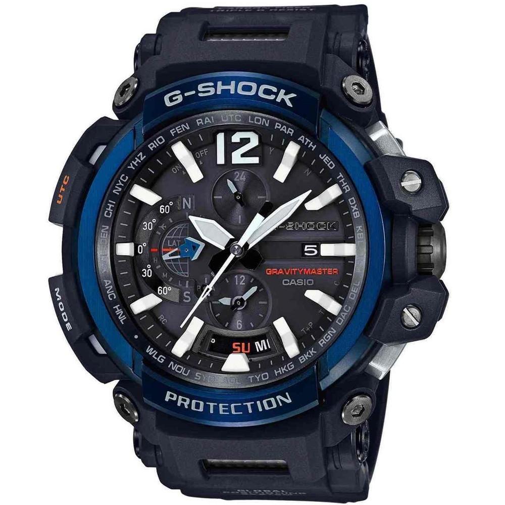 G-SHOCK強悍進化藍牙GPS接收電波飛行概念錶-藍(GPW-2000-1A2)