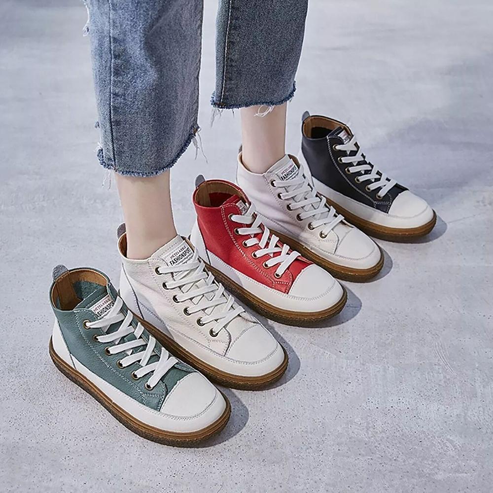LN 英倫厚底真皮休閒短靴-4色&