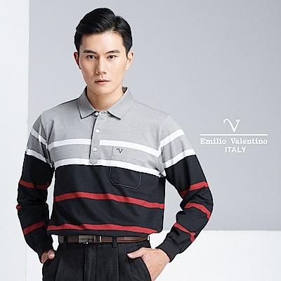 Emilio Valentino 時尚紳士休閒POLO衫_黑(66-8V1151)