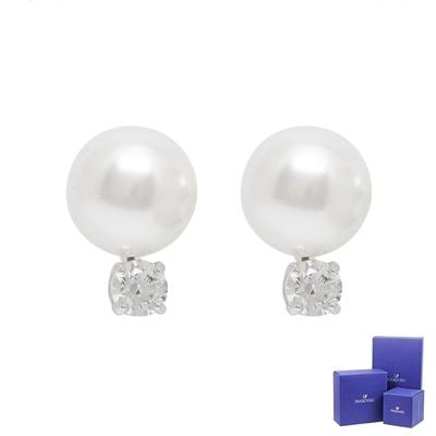 SWAROVSKI 施華洛世奇 TREASURE璀璨水晶珍珠銀色耳環
