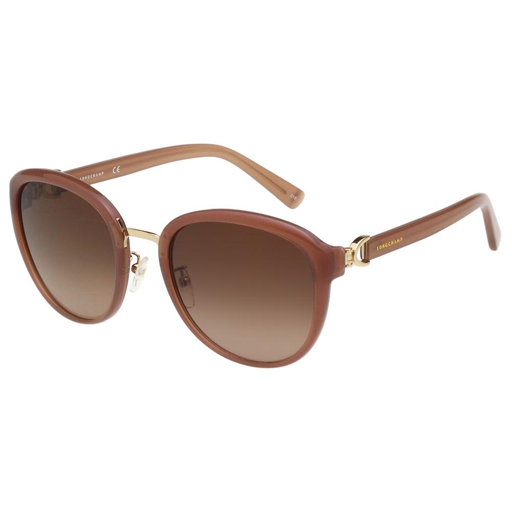 LONGCHAMP 太陽眼鏡 (藕色配金色)LO628SK