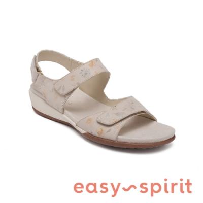 Easy Spirit-seHARTWELL 真皮舒適後繫帶休閒涼鞋-花杏色