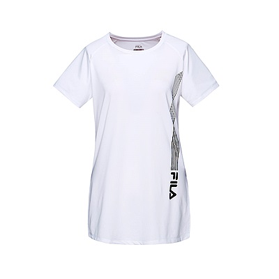 FILA 女抗UV 吸排T恤-白色 5TET-1322-WT