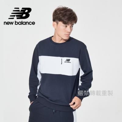 [New Balance]圓領針織長袖_男款_深藍色_AMT11501ECL