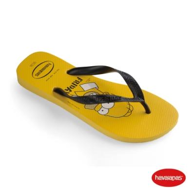 Havaianas 哈瓦仕 拖鞋 夾腳拖 人字拖 辛普森家族 巴西 童鞋 兒童 金黃 4137889-0776K Kids Simpsons