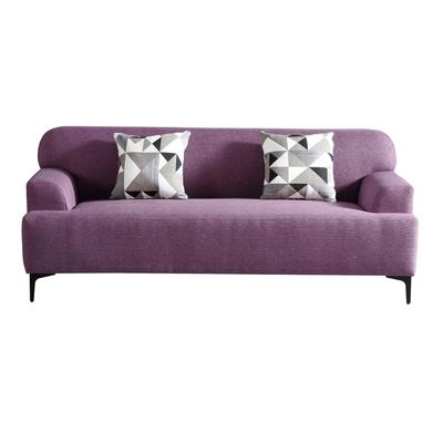 MUNA 3213型紫色三人椅布沙發 202X88X82cm