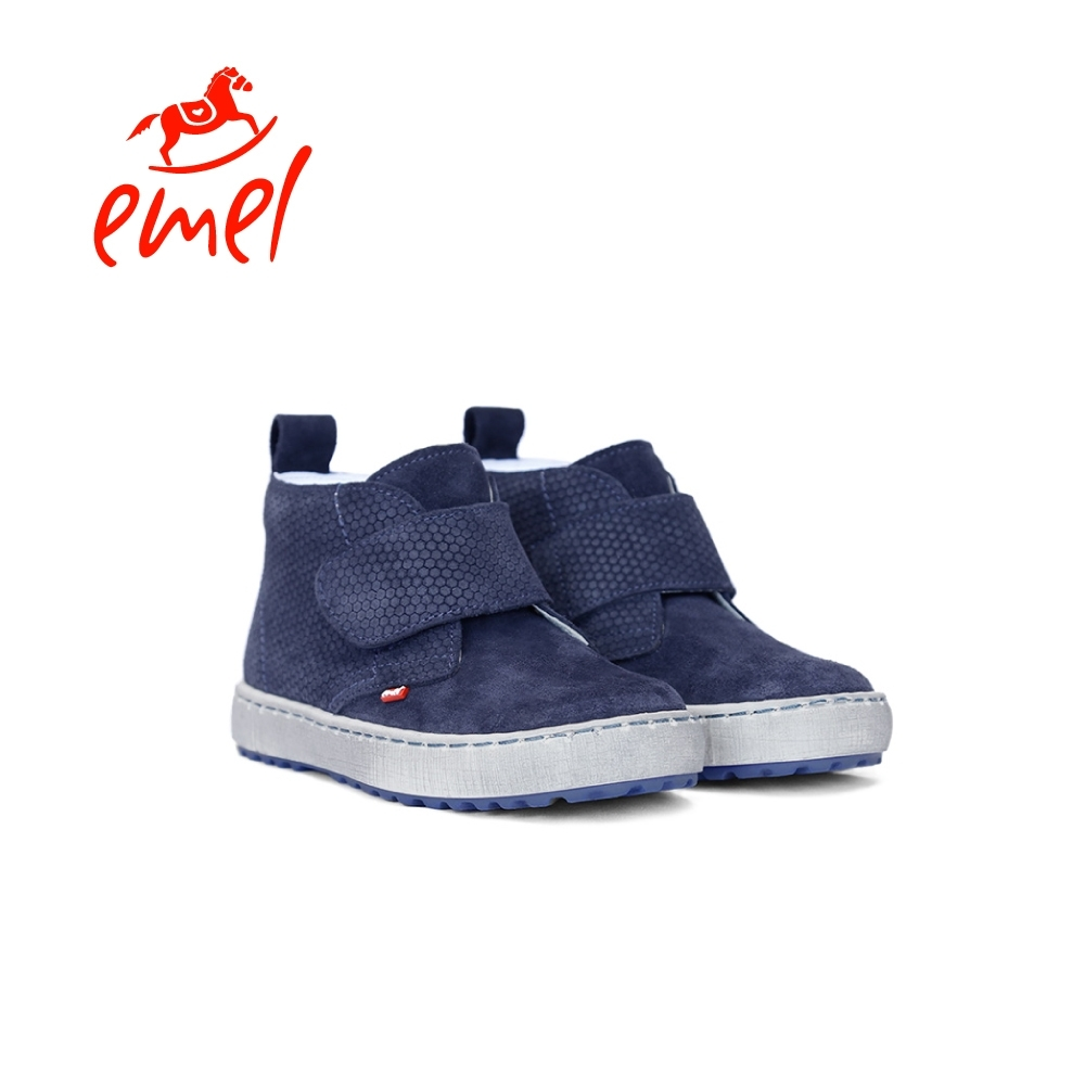 Emel 童鞋 蜂巢-魔鬼氈鞋 普魯士藍