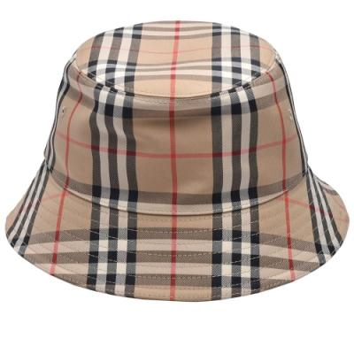 BURBERRY 經典Vintage Check格紋漁夫帽(米色)