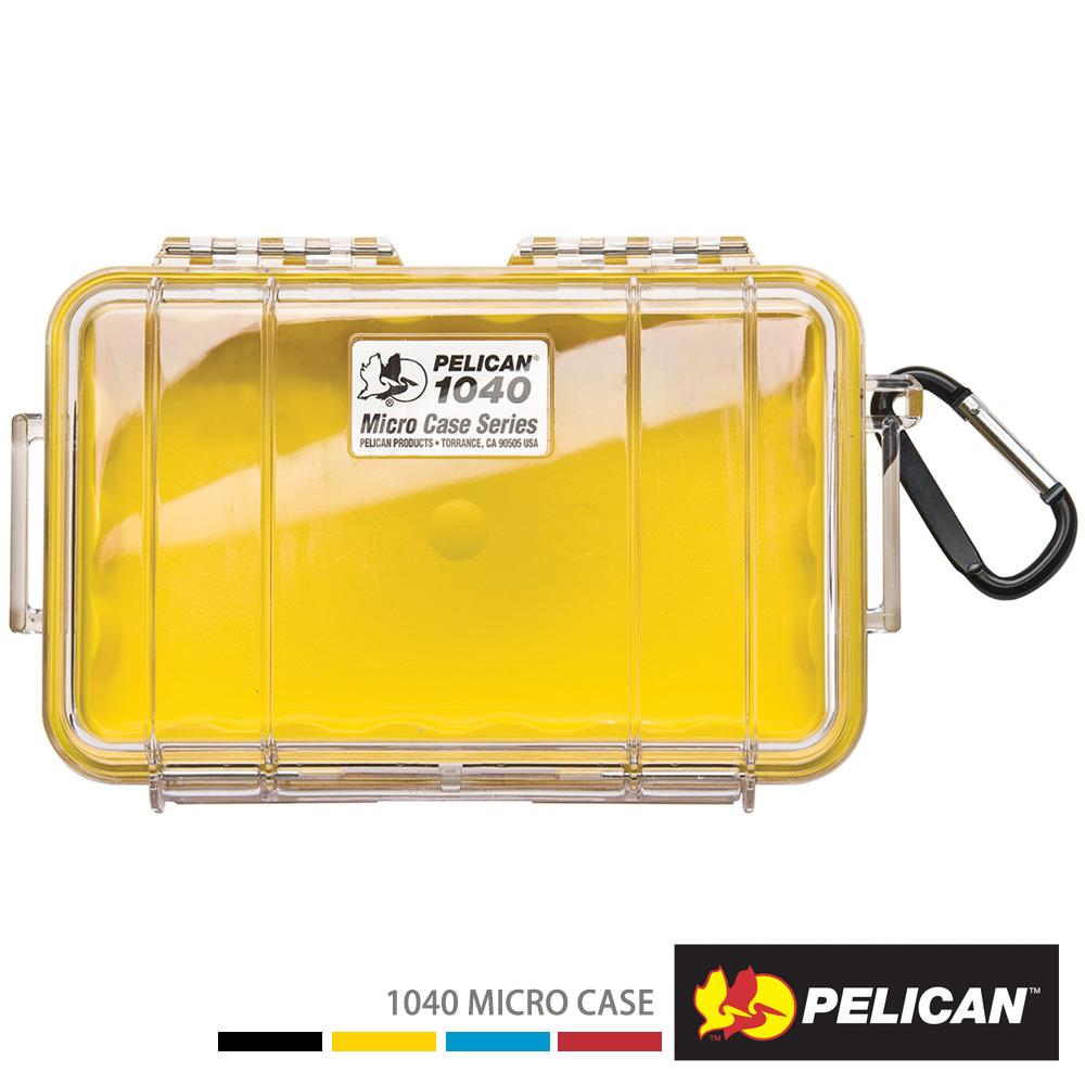 美國 PELICAN 1040 Micro Case 微型防水氣密箱-透明(黃)