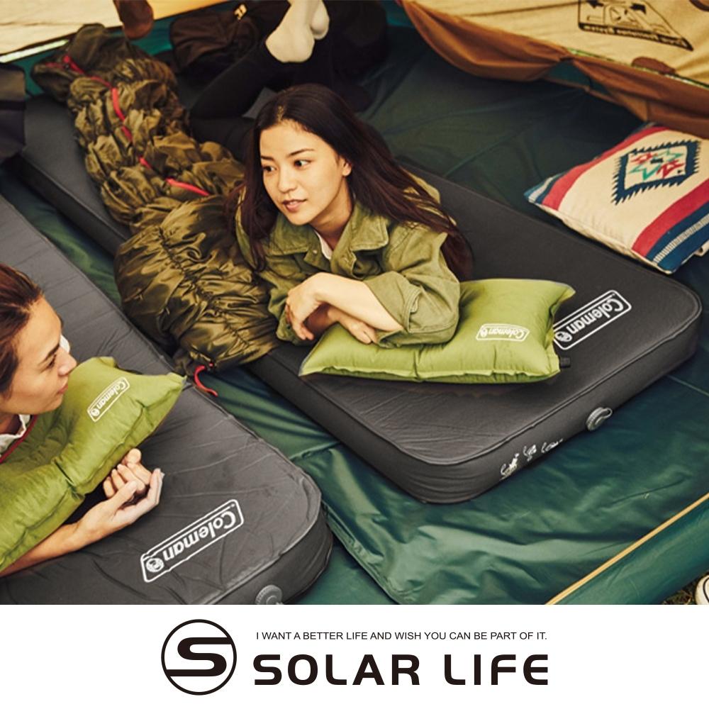 Coleman CM露營者單人自動充氣氣墊床 CM-36153.自動充氣睡墊 單人充氣墊 露營充氣床墊 防潮帳篷睡墊 加厚10cm