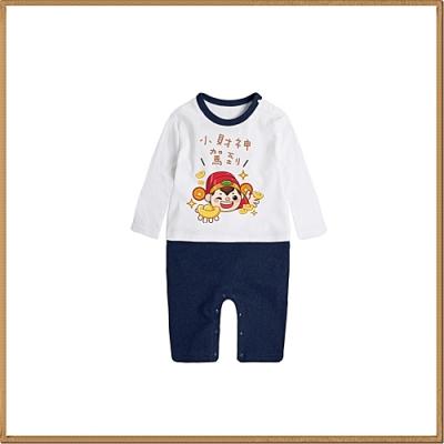 Baby童衣 新年賀語 長袖連身衣 66344(共8色)