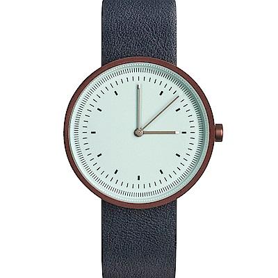 AÃRK 經典時光旅人真皮革腕錶 -蒂芬妮綠/36mm