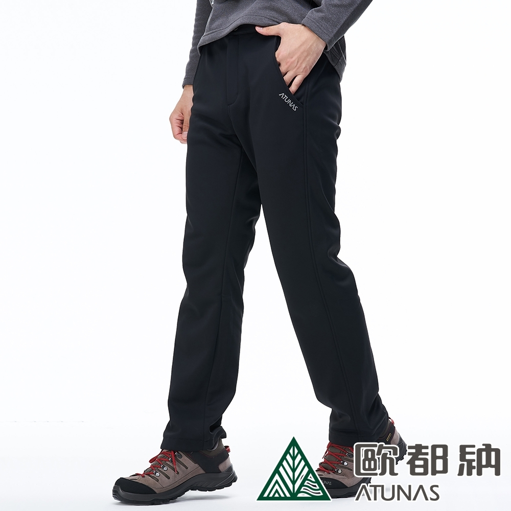 【ATUNAS 歐都納】男WINDSTOPPER防風保暖長褲A1-PA1828M黑