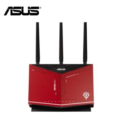 ASUS X GUNDAM 華碩 RT-AX86U 雙頻WiFi 6無線電競路由器 鋼彈薩克限量款