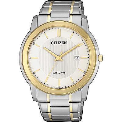 CITIZEN 星辰 Eco-Drive 光動能城市手錶-雙色版/42mm
