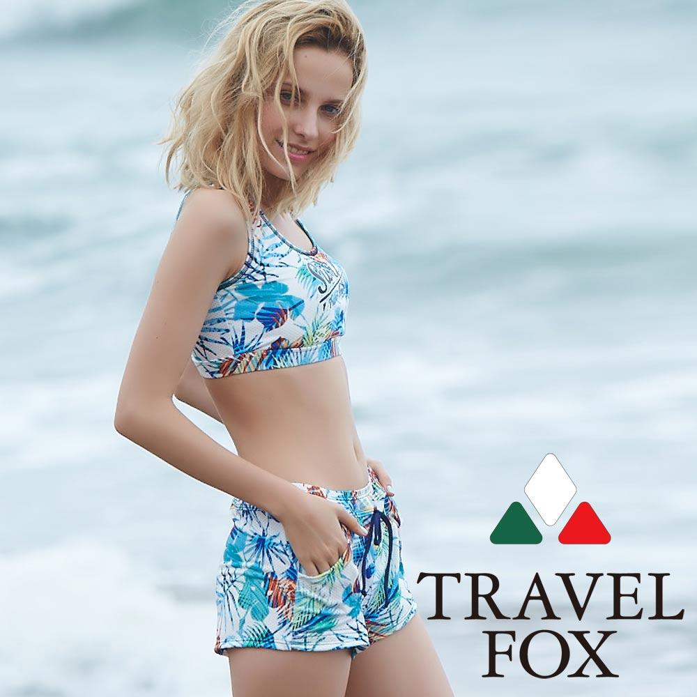 TRAVEL FOX夏之戀 大女短版三件式泳衣