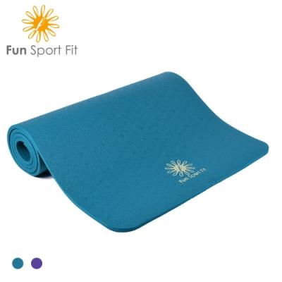 Fun Sport fit-好動女孩厚踩瑜珈墊-(10mm)-送吉尼亞瑜珈背袋 (NBR環保材質)