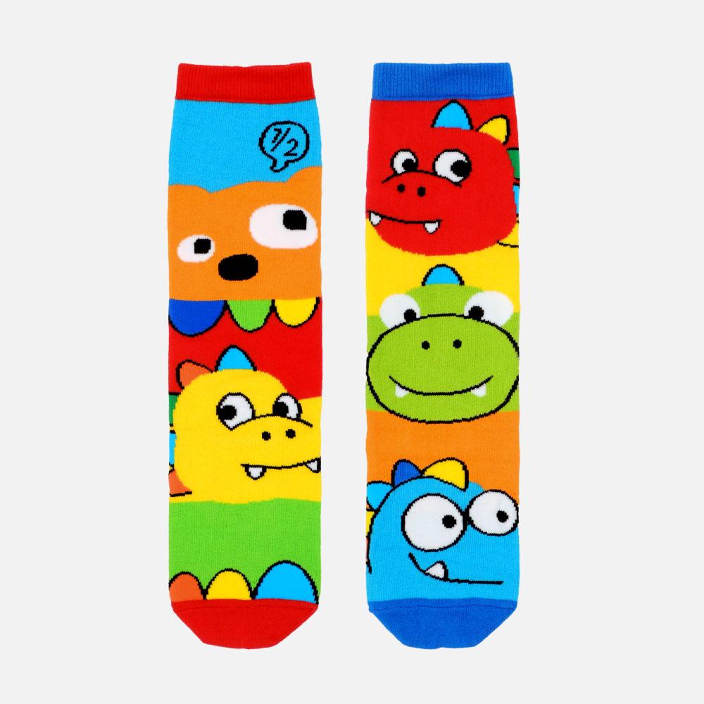 WHY AND 1/2 普普熊恐龍長筒襪