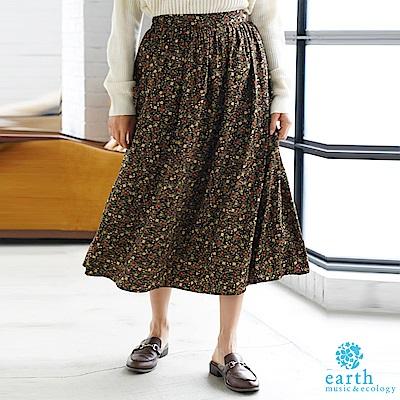 earth music 喬其紗復古感印花長裙