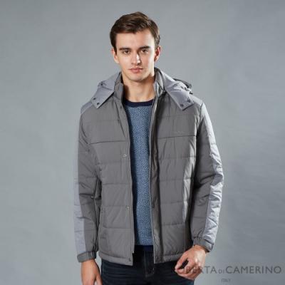 ROBERTA諾貝達 簡約休閒 鋪棉條紋夾克外套 灰色