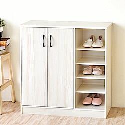 《HOPMA》DIY巧收加深款二門五格鞋櫃-寬79.5 x深33 x高81cm