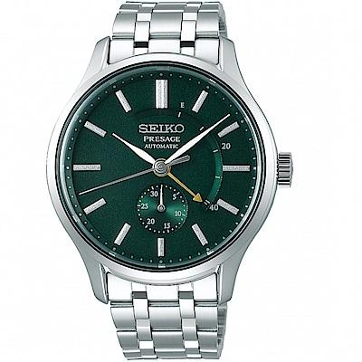 SEIKO精工Presage動力儲存顯示機械錶(SSA397J1)-綠