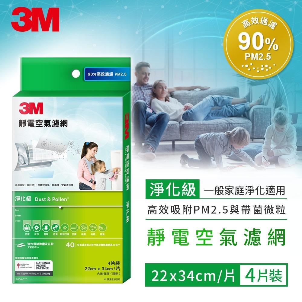 3M 淨化級靜電空氣濾網 4片裝 9806-CTC 驚喜價