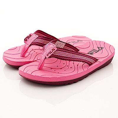 FILA頂級童鞋 輕量排水拖鞋款 FO34R-255桃(中大童段)