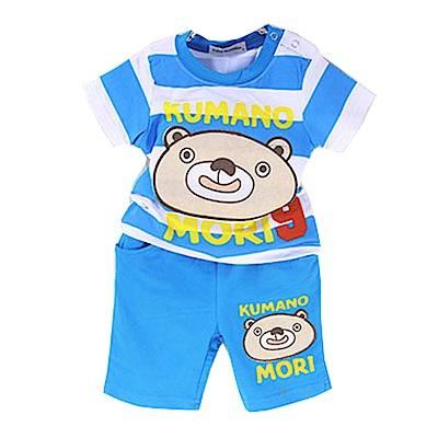 條紋熊印花短袖套裝 k50286 魔法Baby