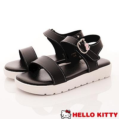 HelloKitty童鞋 輕量簡約涼鞋款 EI18177黑(中大童段)