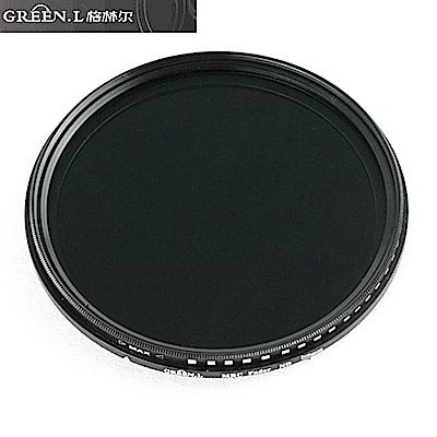 Green.L 18層多層鍍膜VND Fader可調式ND2-400減光鏡72mm濾鏡72mm減光鏡(料號GVN2472)ND2-ND400 ND濾鏡ND減光鏡